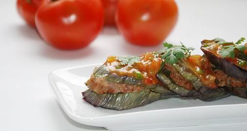 thực đơn giảm cân hiệu quả từ cà tím - cá nhồi thịt